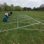 Newport Pagnell Carnival Marquee Construction